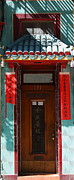 Long Street Prints - San Francisco Chinatown Door Print by Wingsdomain Art and Photography
