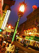 Night Scene Prints - San Francisco Chinatown Print by Elizabeth Hoskinson