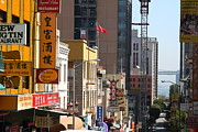 Chinese Characters Framed Prints - San Francisco Chinatown Signs . 7D7393 Framed Print by Wingsdomain Art and Photography