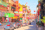 Big Cities Digital Art Prints - San Francisco Chinatown Print by Wingsdomain Art and Photography
