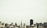 San Francisco Metal Prints - San Francisco City Skyline Metal Print by Emily Golitzin