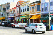 Cityscape Digital Art - San Francisco Clement Street 2 by Wingsdomain Art and Photography