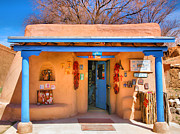 Taos Posters - San Francisco de Asis Gift Shop Poster by Steven Ainsworth