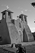 Southwest Pyrography Posters - San Francisco de Asis Mission Church 8 Poster by Lou  Novick