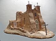 Southwestern Sculpture Sculptures - San Francisco de Asis Mission by Tim Prythero