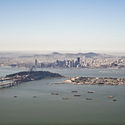 Bay Bridge Photos - San Francisco Downtown and Bay by Eddy Joaquim
