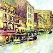 Perspective Painting Originals - San Francisco by Eve McCauley