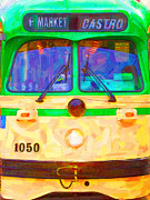 Eureka Valley Posters - San Francisco F-Line Streetcar Front Side Poster by Wingsdomain Art and Photography