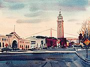 Ferry Building Framed Prints - San Francisco Ferry Building Framed Print by Donald Maier