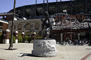 Ballparks Posters - San Francisco Giants Ballpark  Statue of Juan Marichal Poster by Paul Plaine