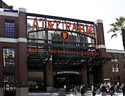 Willie Mays Posters - San Francisco Giants Baseball Park Poster by Paul Plaine