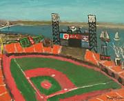 San Francisco Giants Stadium Print by Kyle McGuigan