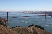 Skylines Photos - San Francisco Golden Gate Bridge And Skyline Viewed From Hawk Hill in Marin - 5D19606 by Wingsdomain Art and Photography