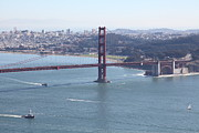 Skylines Photos - San Francisco Golden Gate Bridge And Skyline Viewed From Hawk Hill in Marin - 5D19607 by Wingsdomain Art and Photography