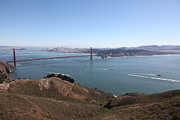 Skylines Photos - San Francisco Golden Gate Bridge And Skyline Viewed From Hawk Hill in Marin - 5D19614 by Wingsdomain Art and Photography