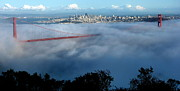 San Francisco Giant Photos - San Francisco Golden Gate Bridge Panoramic  by Jeff Lowe