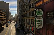 Shady Street Posters - San Francisco Green Door Poster by Rich Beer