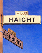 Street Signs Digital Art Posters - San Francisco Haight Ashbury Poster by Wingsdomain Art and Photography