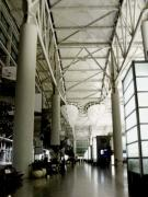 San Francisco Bay Pyrography Prints - San Francisco International Airport Print by Fareeha Khawaja
