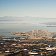 Airport Architecture Prints - San Francisco International Runway Print by Eddy Joaquim
