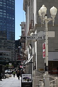 Famous Streets Posters - San Francisco Maiden Lane - 5D17096 Poster by Wingsdomain Art and Photography