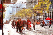 Pedestrian Prints - San Francisco Market Street . 40D3701 Print by Wingsdomain Art and Photography