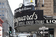 Crosswalk Posters - San Francisco Marquards Little Cigar Store Powell and OFarrell Streets - 5D17954 Poster by Wingsdomain Art and Photography