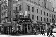 Crosswalk Photo Metal Prints - San Francisco Marquards Little Cigar Store Powell Street - 5D17950 - black and white Metal Print by Wingsdomain Art and Photography