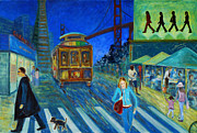 Union Square Painting Prints - San Francisco Moments Print by Xueling Zou