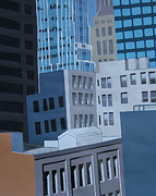 Los Angeles Skyline Paintings - San Francisco Number One by Bradley Reyes