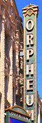 Long Street Digital Art Framed Prints - San Francisco Orpheum Theatre - 5D17997 - Painterly Framed Print by Wingsdomain Art and Photography