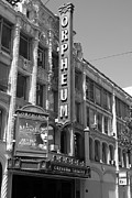 Theater District Prints - San Francisco Orpheum Theatre - 5D18007 - black and white Print by Wingsdomain Art and Photography