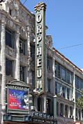 Billboard Signs Prints - San Francisco Orpheum Theatre - 5D18007 Print by Wingsdomain Art and Photography