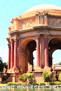 Palace Of Fine Arts Prints - San Francisco Palace of Fine Arts - 5D18101 - Painterly Print by Wingsdomain Art and Photography