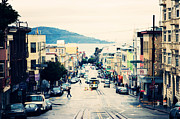 Rainy Day Photos - San Francisco Powell Street by Kim Fearheiley