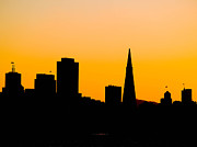 Frisco Prints - San Francisco Silhouette Print by Bill Gallagher