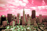 San Francisco Financial District Digital Art - San Francisco Skyline - Pop Art by Peter Art Prints Posters Gallery