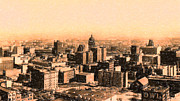 Skylines Art - San Francisco Skyline 1909 showing South of Market Street by Wingsdomain Art and Photography