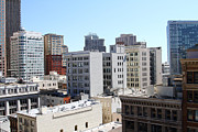 Union Square Prints - San Francisco Skyline . 7D7490 Print by Wingsdomain Art and Photography