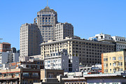 Union Square Prints - San Francisco Skyline . 7D7494 Print by Wingsdomain Art and Photography