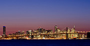 Bay Bridge Photos - San Francisco Skyline by About Light  Images