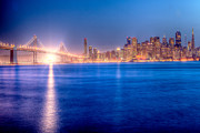 Treasure Island Framed Prints - San Francisco Skyline Framed Print by Ariane Moshayedi