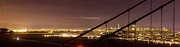 Bay Bridge Photos - San Francisco Skyline as seen through Golden Gate Bridge by Matt Tilghman