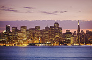 Office Space Framed Prints - San Francisco Skyline Framed Print by Bryan Mullennix