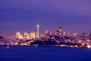 Exposure Pyrography Framed Prints - San Francisco Skyline Framed Print by Kevin Ho