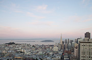 Alcatraz Prints - San Francisco Skyline Print by Michael Turek