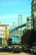 San Francisco Bay Bridge Photo Posters - San Francisco Street Poster by Donna Blackhall