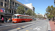 Long Street Posters - San Francisco Streetcar at The Orpheum Theatre - 5D18000 Poster by Wingsdomain Art and Photography