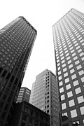 Architecture Framed Prints - San Francisco Tall Buildings in The Financial District - 5D17897 - black and white Framed Print by Wingsdomain Art and Photography