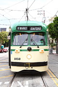 Eureka Valley Posters - San Francisco Trolley . Castro District . 7D7572 Poster by Wingsdomain Art and Photography
